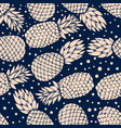 seamless pattern with vintage pineapples vector image