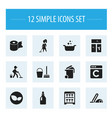 set of 12 editable hygiene icons includes symbols vector image vector image