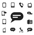 set of 12 editable phone icons includes symbols vector image vector image