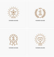 set of four linear winner awards vector image vector image