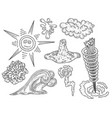 set of hand-drawn images vector image vector image