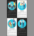 set of successful office work strategy banners vector image vector image