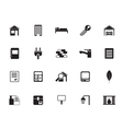 Silhouette Real Estate and building icons vector image vector image