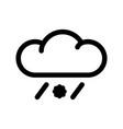sleet weather line icon vector image vector image