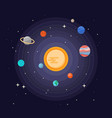 solar system space planets vector image