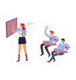 students humiliating classmate isolated icon boys vector image vector image
