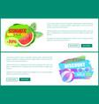 summer sale watermelon ball vector image vector image