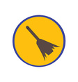 Sweeping broom vector image