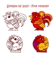 symbol 2017 - red fire rooster vector image