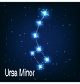 The constellation Ursa Minor star in the night