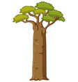 tree with big trunk vector image