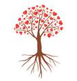 valentines hearts tree vector image vector image