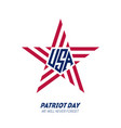 we will never forget patriot day september 11 vector image