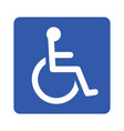 wheelchair or accessibility parking sign vector image