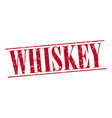 whiskey red grunge vintage stamp isolated on white vector image vector image