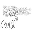 why everyone can enjoy the cruise travel vector image vector image