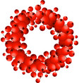 wreath of red berries vector image vector image