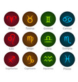 zodiac signs circle neon ball icon vector image