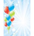 festive balloons and lightburst vector image