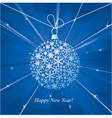 Happy New Year card with christmas ball vector image