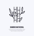 bamboo fiber flat line icon sign for vector image