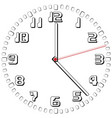 black and white clock simple fifty-sixth edition vector image