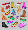 womens fashion shoes and boots set vector image