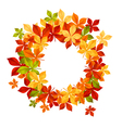autumn falling leaves in frame for seasonal or tha vector image