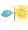 cheeky sun vector image
