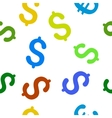 Dollar Flat Seamless Pattern vector image