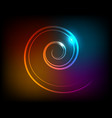 abstract luminous spiral on a dark background vector image