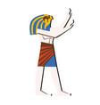 ancient egypt wall art or mural cartoon vector image vector image