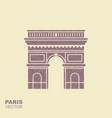 arc de triomphe paris france travel paris icon vector image vector image