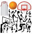 Basketball and equipments