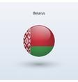belarus round flag vector image