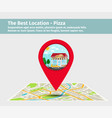 best pizza point on map vector image