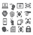 biometric icons set on white background vector image