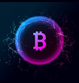 bitcoin conceptual glowing background vector image