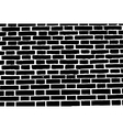 Black brick wall texture background old rough vector image