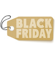 Black Friday sales tag vector image