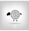 black silhouette sheep on a light background vector image vector image