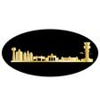brussels city skyline belgium vector image vector image