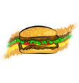 burger stuffed design vector image