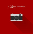 camera icon with i love photography text vector image