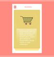 cart mobile vertical banner design design vector image vector image