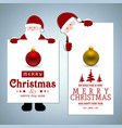 christmas card with santa clause and balls vector image vector image