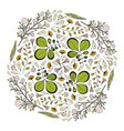 circle floral ornament design for greeting vector image vector image