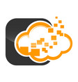 cloud technology logo template design vector image