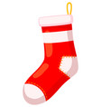 colorful cartoon old xmas stocking vector image