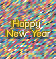 Colorful happy newyear typography greeting card vector image vector image
